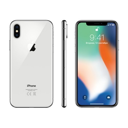 Apple iPhone X 64GB (серебристый) фото 3