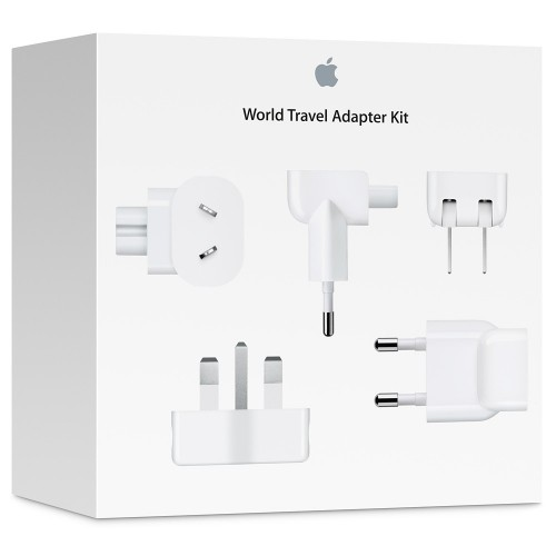 Комплект адаптеров Apple World Travel Adapter Kit, цвет белый MD837ZM/A