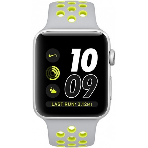 Apple Watch Nike+ 38mm Silver with Flat Silver/Volt Nike Band [MNYP2] фото 2