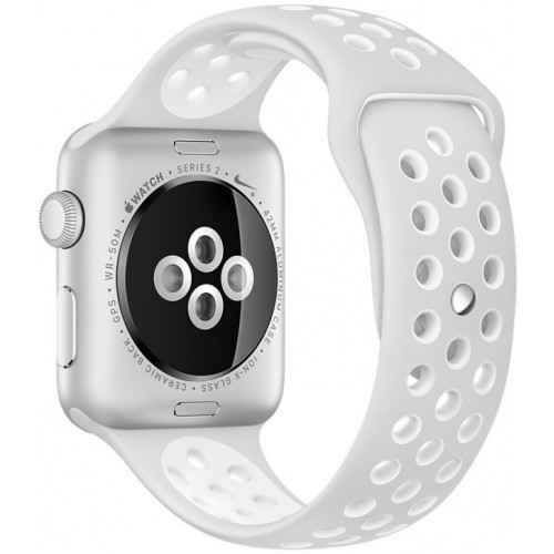 Apple Watch Nike+ 38mm Silver with White Nike Sport Band [MQ172] фото 3