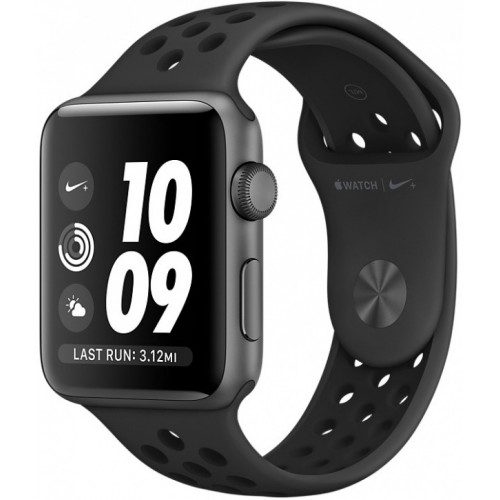 Apple Watch Nike+ 38mm Space Gray with Black Nike Sport Band [MQ162] фото 1