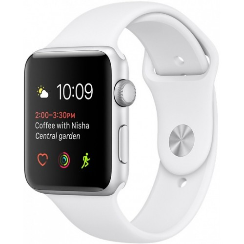 Apple Watch Series 1 42mm Silver with White Sport Band [MNNL2] фото 1