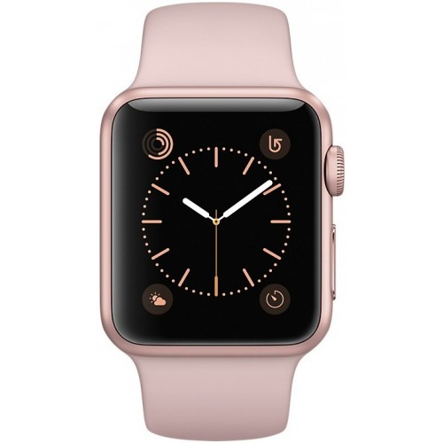 Apple Watch Series 2 38mm Rose Gold with Pink Sand Sport Band [MNNY2] фото 2