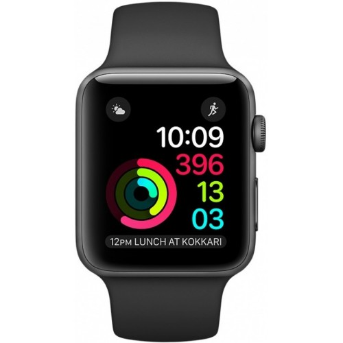 Apple Watch Series 2 38mm Space Gray with Black Sport Band [MP0D2] фото 2