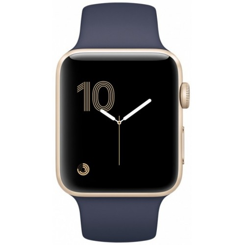 Apple Watch Series 2 42mm Gold with Midnight Blue Sport Band [MQ152] фото 2