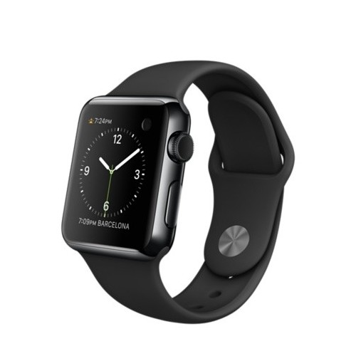 Apple Watch Series 3 LTE 42 мм (сталь черный космос/черный) [MQK92] фото 1