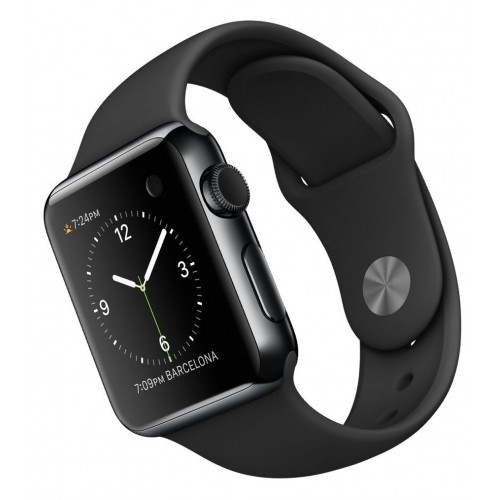 Apple Watch Series 3 LTE 42 мм (сталь черный космос/черный) [MQK92] фото 3