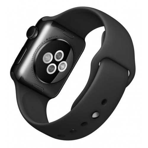 Apple Watch Series 3 LTE 42 мм (сталь черный космос/черный) [MQK92] фото 4