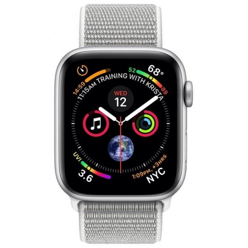 Apple Watch Series 4 LTE 40 мм (алюминий серебристый/белая ракушка) фото 2