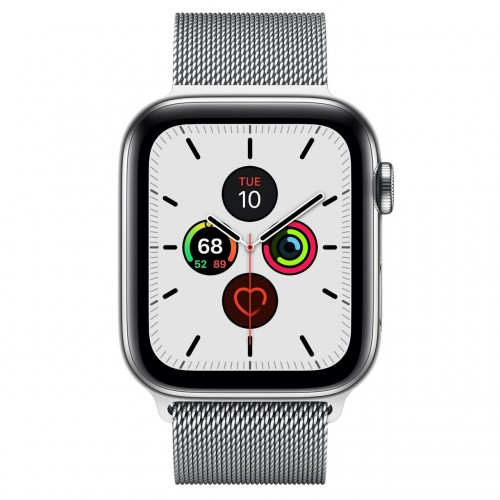 Apple Watch Series 5 LTE 44 мм (серебристый/миланский серебристый) фото 2