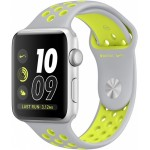 Apple Watch Nike+ 38mm Silver with Flat Silver/Volt Nike Band [MNYP2] фото 1