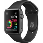 Apple Watch Series 1 42mm Space Gray with Black Sport Band [MP032] фото 1