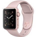 Apple Watch Series 2 42mm Rose Gold with Pink Sand Sport Band [MQ142] фото 1