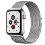 Apple Watch Series 5 LTE 44 мм (серебристый/миланский серебристый) фото 1